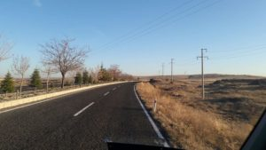 Nevsehir-to-goreme-road