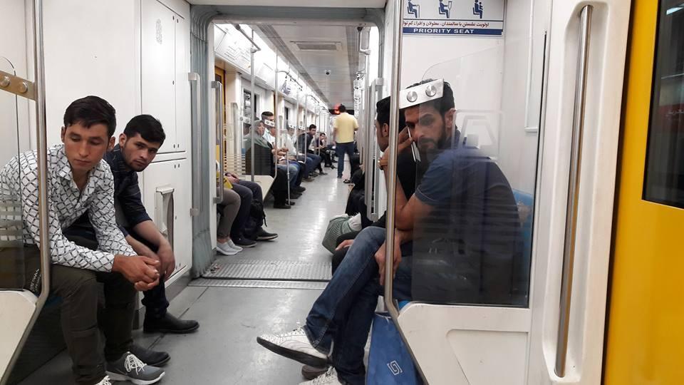 metro train tehran iran
