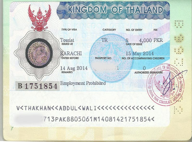 Thailand Visa For Pakistani Passport Requirements How To Apply