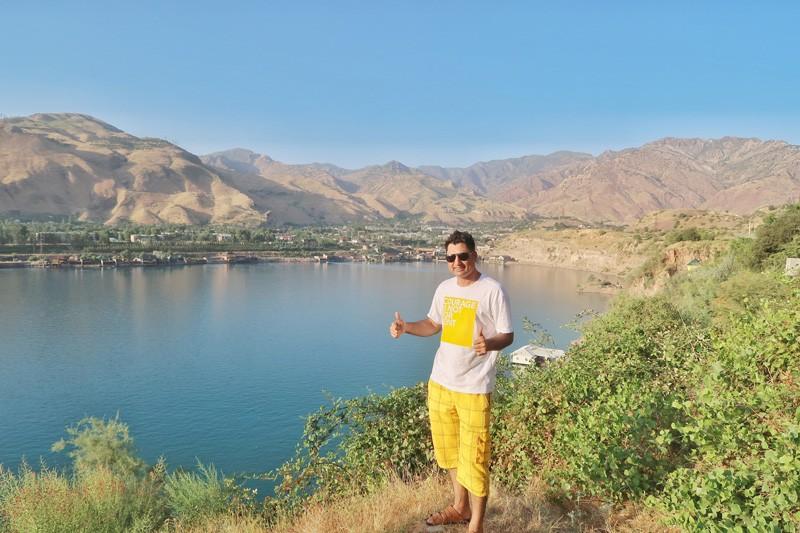 Norak lake in Tajikistan