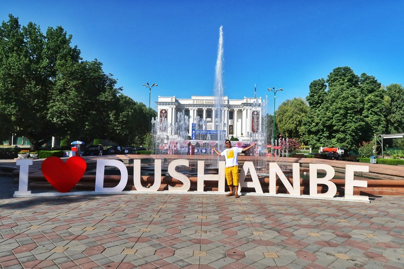 city center in Dushanbe