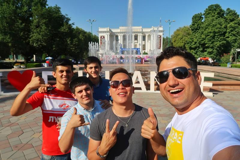 Dushanbe city center, Tajikistan