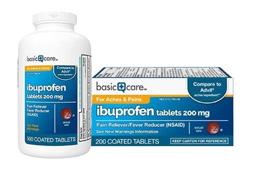 Comprimés d'ibuprofène de soins de base 200 mg