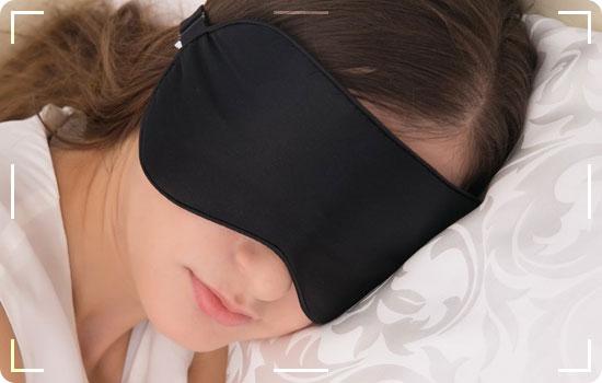 masque de sommeil de voyage